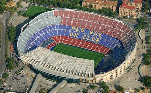 Фото стадион «Камп Ноу» в Барселоне, Испания