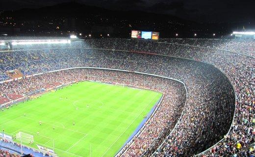 Фото-2 стадион «Камп Ноу» в Барселоне, Испания
