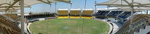 Панорама стадиона Чидамбарам (M. A. Chidambaram stadium)     Фото: Aravind Sivaraj