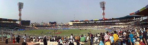 Стадион Эден Гарденс (Eden Gardens stadium)     Фото: Partha Bhaumik