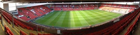 Панорама стадиона Энфилд, Ливерпуль (Anfield)