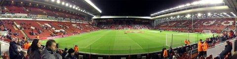 Панорама-2 стадиона Энфилд, Ливерпуль (Anfield)