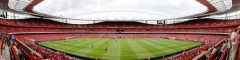 Панорама стадиона Эмирейтс, Лондон (Emirates Stadium)