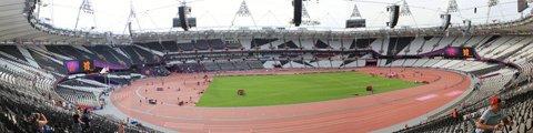 Панорама Олимпийского стадиона в Лондоне (Olympic Stadium London)
