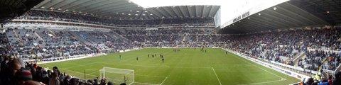 Панорама стадиона Сент-Джеймс Парк, Ньюкасл (St James' Park)