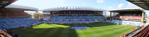 Панорама стадиона Вилла Парк, Бирмингем (Villa Park stadium)