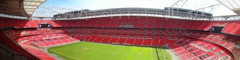 Панорама стадиона Уэмбли, Лондон (Wembley Stadium)
