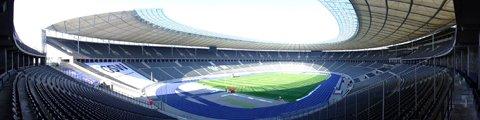 Панорама Олимпийского стадиона в Берлине (Olympiastadion Berlin)