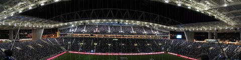 Панорама стадиона Драгау, Порту (Estadio do Dragao, Porto)