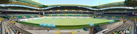 Панорама стадиона Жозе Алваладе, Лиссабон (Estadio Jose Alvalade)