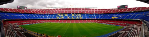 Панорама стадиона Камп Ноу (Camp Nou stadium)