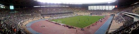 Панорама Олимпийского стадиона в Севильи