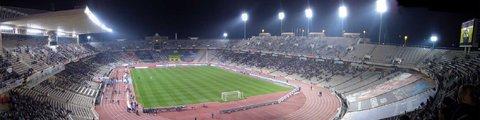 Панорама Олимпийского стадиона в Барселоне