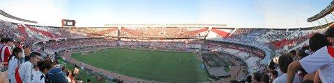 Панорама стадиона Монументаль, Буэнос-Айрес (El Monumental)