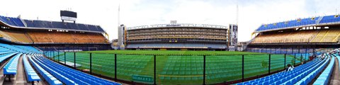 Панорама стадиона Бомбонера, Буэнос-Айрес (La Bombonera)