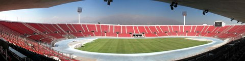 Панорама Национального стадиона Хулио Мартинес Праданос, Сантьяго (Estadio Nacional Julio Martínez Pradanos)