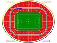 План схема стадиона Эмирейтс, Лондон (Emirates Stadium seating plan)