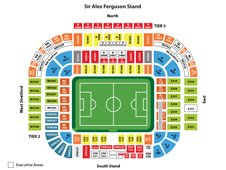 План схема стадиона Олд Траффорд, Манчестер (Old Trafford seating plan)