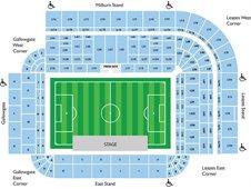 План схема стадиона Сент-Джеймс Парк, Ньюкасл (St James' Park seating plan)