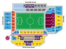 План схема стадиона Вилла Парк, Бирмингем (Villa Park stadium seating plan)