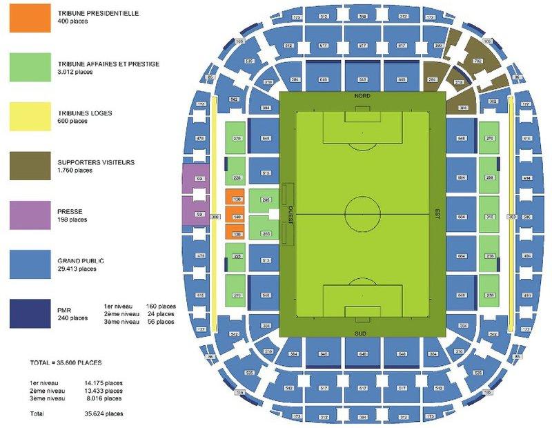 План схема стадиона Альянц