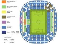 План схема стадиона Альянц Ривьера, Ницца (Allianz Riviera seating plan)