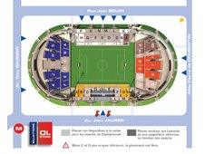План схема стадиона Жерлан, Лион (Stade de Gerland seating plan)