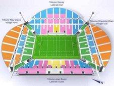 План схема стадиона Велодром, Марсель (Stade Velodrome seating plan)