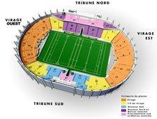 План схема Муниципального стадиона Тулузы (Stadium Municipal de Toulouse seating plan)