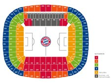 План схема стадиона Альянц Арена