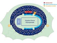План схема Олимпийског стадиона, Мюнхен