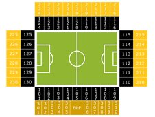 План схема стадиона Гелредом (seating plan gelredome)