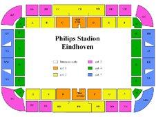 План схема стадиона Филипс (seating plan philips stadion)