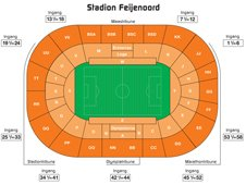 План схема стадиона Фейеноорд (seating plan stadion feijenoord)