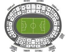 План схема стадиона Фриули (stadio friuli seating plan)
