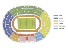 План схема стадиона Сан-Паоло (seating plan stadio san paolo)