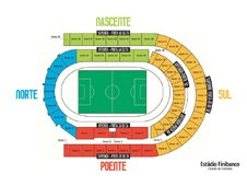 План схема стадиона Сьюдад де Коимбра, Коимбра (Estadio Cidade de Coimbra seating plan)