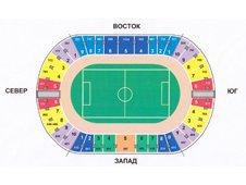 План схема Центрального стадиона в Казани