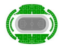 План схема стадиона Центральный, Екатеринбург (seating plan Central Stadium Yekaterinburg)