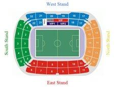 План схема стадиона «Локомотив», Москва