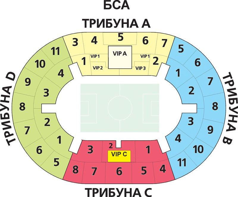 План схема стадиона Лужники