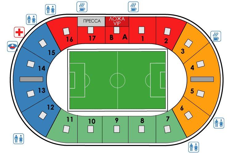 План схема стадиона Петровский