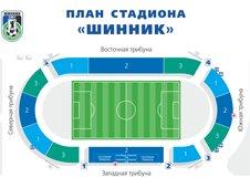 План схема стадиона Шинник (seating plan shinnik stadium)