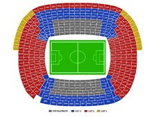 План схема стадиона Камп Ноу (Camp Nou seating plan)