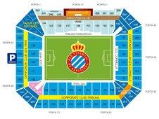 План схема стадиона Корнелья-Эль Прат (estadi cornella-el prat seating plan)