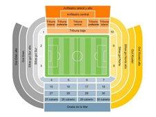 План схема стадиона Месталья (mestalla seating plan)