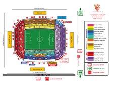 План схема стадиона Рамон Санчес Писхуан (ramon sanchez pizjuan seating plan)