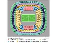 План схема стадиона Сантьяго Бернабеу (seating plan santiago bernabeu)