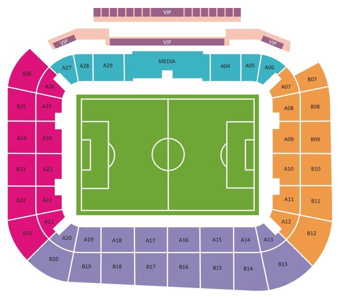 План схема стадиона Арена