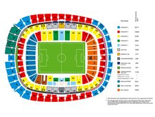 План схема стадиона Донбасс Арена (donbass arena seating plan)